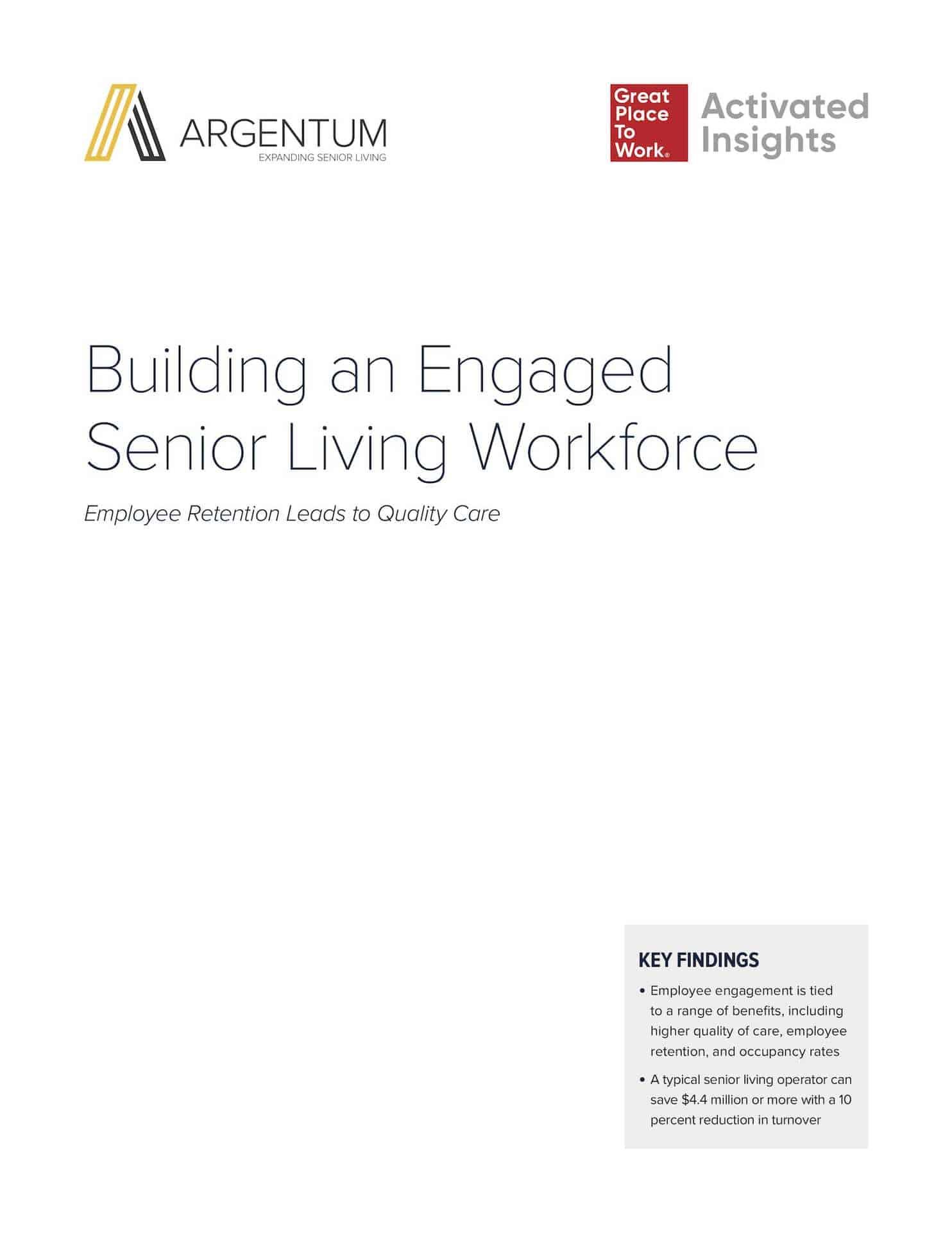 Building an Engaged Senior Living Workforce