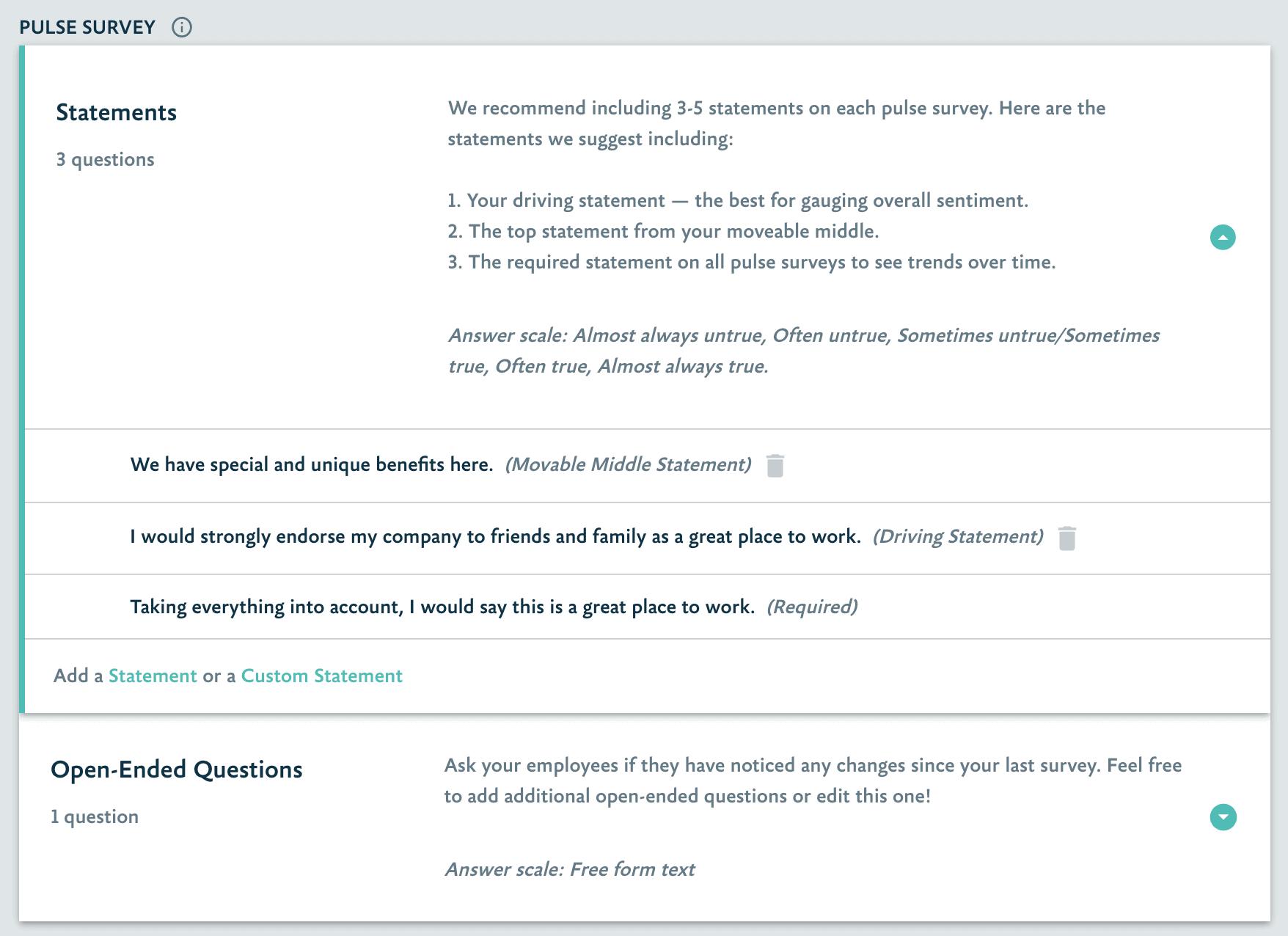 Culture 2 - New Pulse Survey Creation